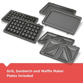Grill, Sandwich and Waffle Maker Plates Included WM2000SD