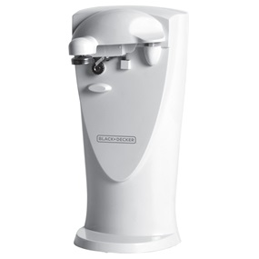 Black+Decker™ 2 in 1 white electric can opener co450w