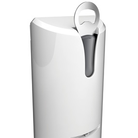 Black+Decker EasyCut™ extra tall white can opener ec500w
