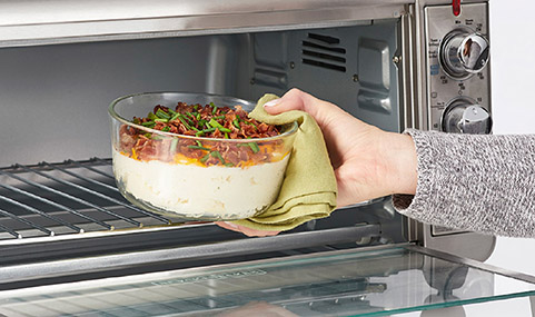 Safe for oven, freezer and microwave