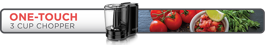 BLACK+DECKER™ one-touch 3 cup capacity black choppper