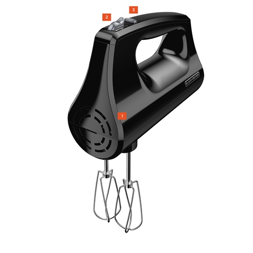 Black+Decker™ black handheld mixer mx400b