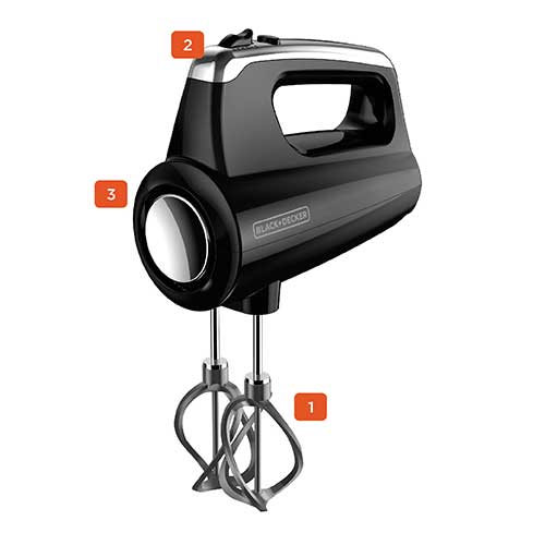 Helix Performance Premium Hand Mixer, 5-Speed Mixer, Black