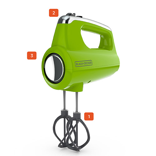 Helix Performance Premium Hand Mixer, Lime