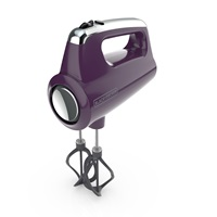 Helix Performance Premium Hand Mixer Purple - Three Quarters View