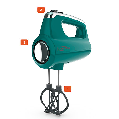 Helix Performance Premium Hand Mixer, Teal
