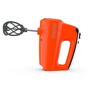 Helix Performance Premium Hand Mixer Tangerine - Side View