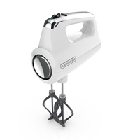 Helix Performance Premium Hand Mixer White - Three Quarters View