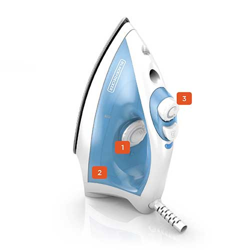 black and decker variable control nonstick compact steam iron F210