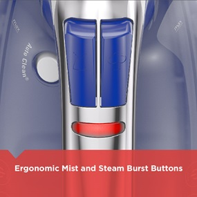 ergonomic mist and steam burst buttons