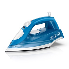 BLACK+DECKER™ Variable Control Compact Steam Iron, Blue, IR20V