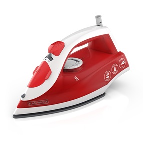 IR20VR Variable Control Compact Steam Iron, Red