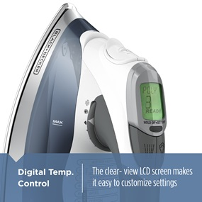 Digital Temp. Control - The clear-view LCD screen makes it easy to customize settings