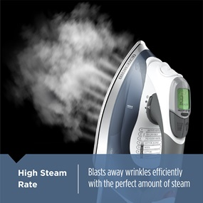High Steam Rate - Blasts away wrinkles efficiently with the perfect amount of steam