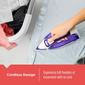 Cordless Design - Experience full freedom of movement with no cord