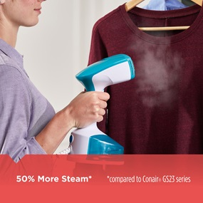 50 Percetn More Steam - Compared to Conair GS23 Series
