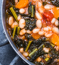 Garlicky White Bean and Kale stew Thumb