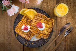 George Foreman® strawberry orange french toast recipe