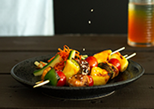 sweet and sour chicken skewers thumbnail