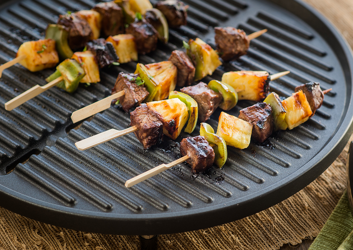 Asian Barbeque Beef Kabobs