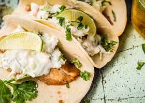 George Foreman Honey Cumin Fish Tacos Recipe
