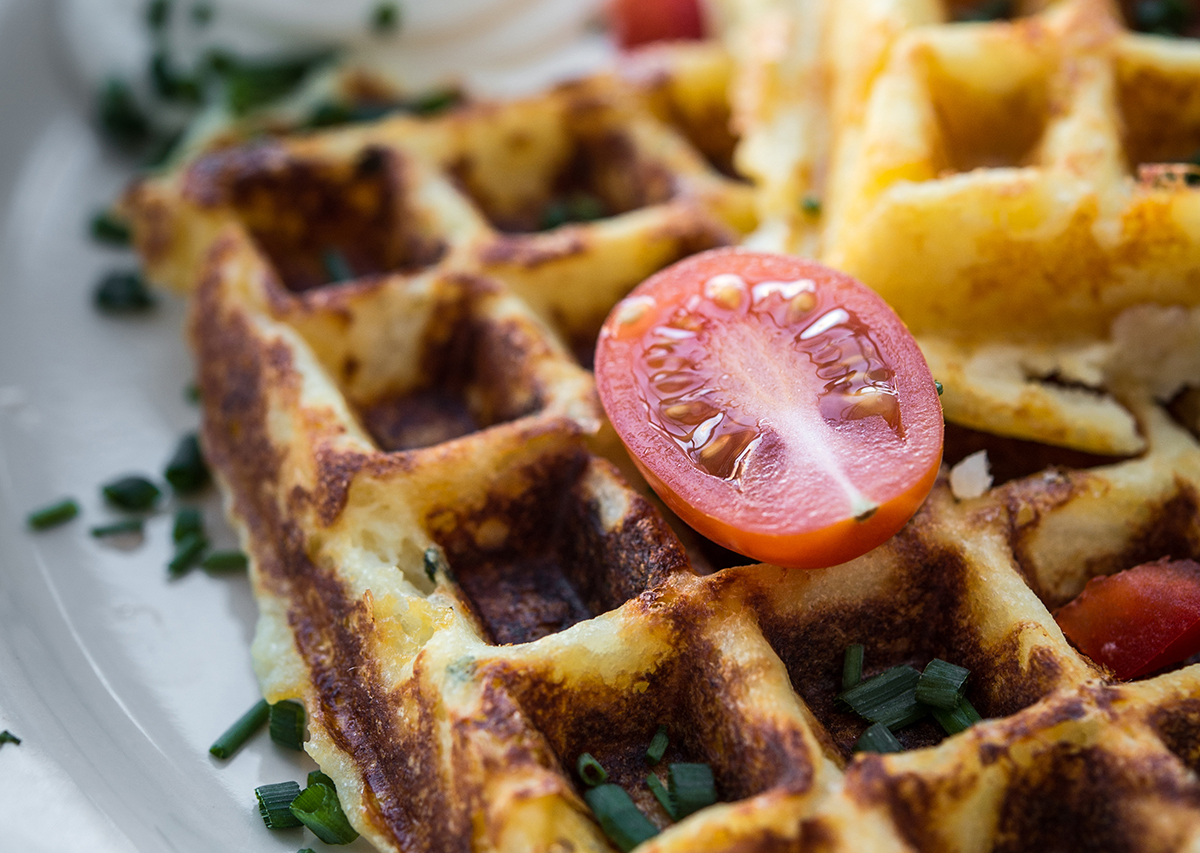 Waffled Mashed Potatoes