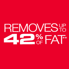 removes up to 42 percent of fat