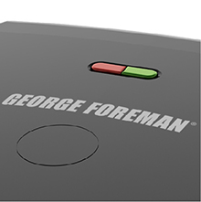 George Foreman® ready indicator light feature gr2120b