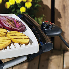 GFO201RX George Foreman Indoor|Outdoor Premium Ceramic Grill Temp Control