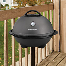 GFO240TGM George Foreman 15+ Serving Indoor|Outdoor Grill with Temperature Gauge Apt Approved