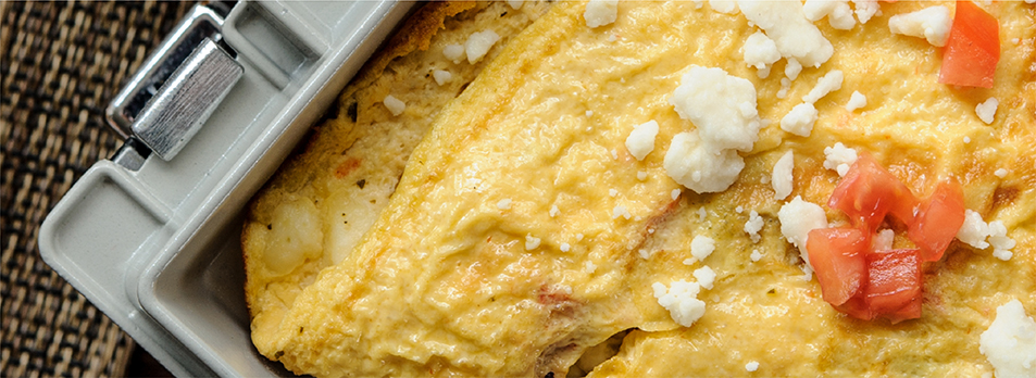 George Foreman® greek omlet for two recipe