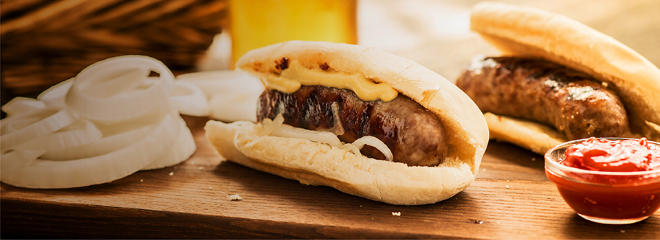 Beer Brats with Onions