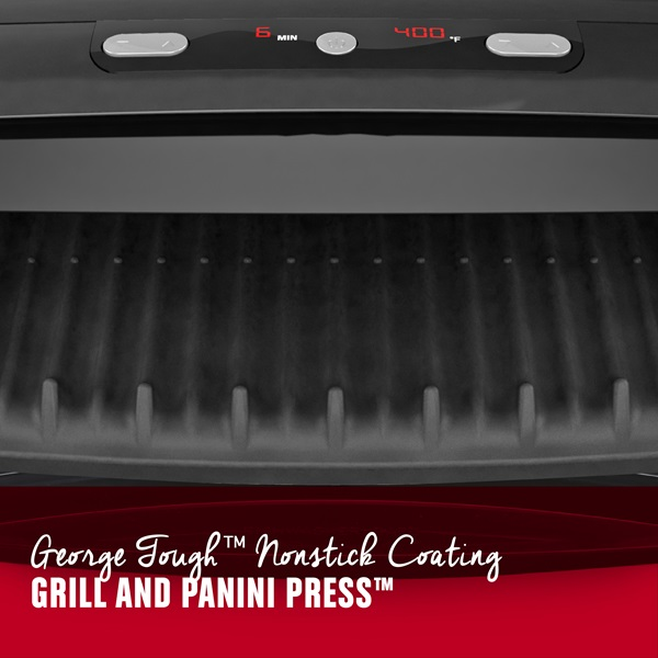 George Tough Nonstick Coating. Grill and Panini Press