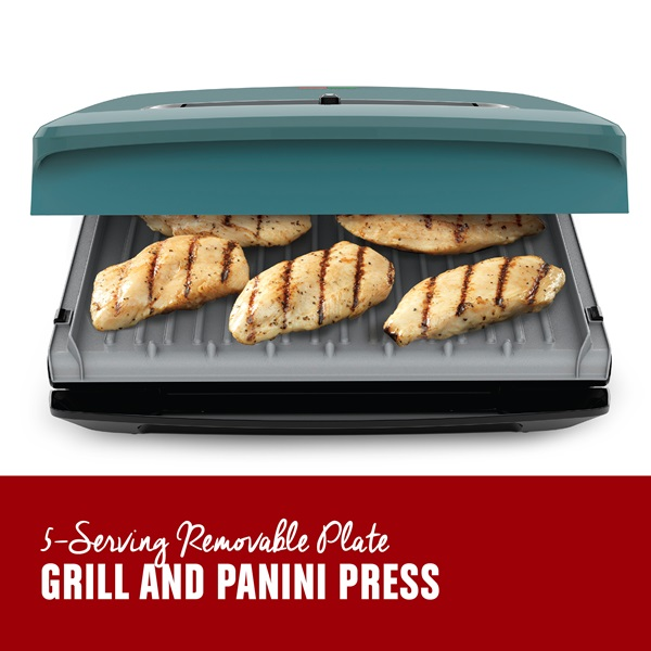 5 Serving Removable Plate Grill and Panini Press