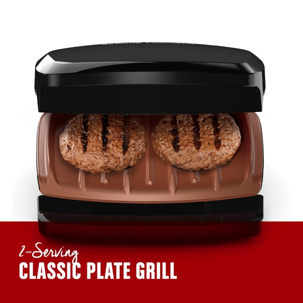 2-serving classic plate grill