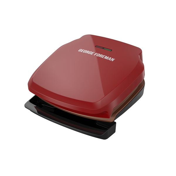 GR320FRC-HP 2-Serving Copper Infused Classic Plate Electric Indoor Grill and Panini Press