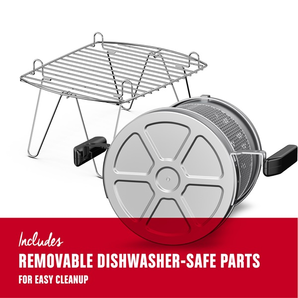 Includes removable dishwasher safe parts for easy cleanup