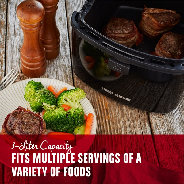 3 Liter Capacity fits multiple servings of a variety of foods
