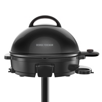 George Foreman® 15-Serving Indoor/Outdoor Electric Grill, Black