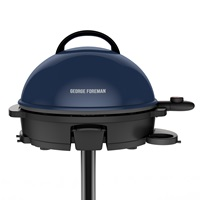 George Foreman® 15-Serving Indoor/Outdoor Electric Grill, Blue