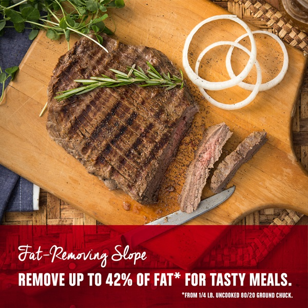 Fat-Removing Slope Remove up to 42 Percent of fat for tasty meals.