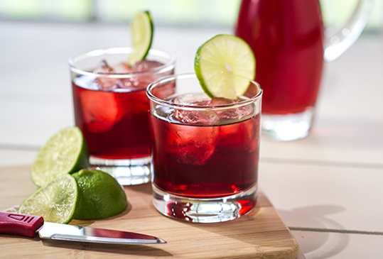 Cranberry Lime Rickey