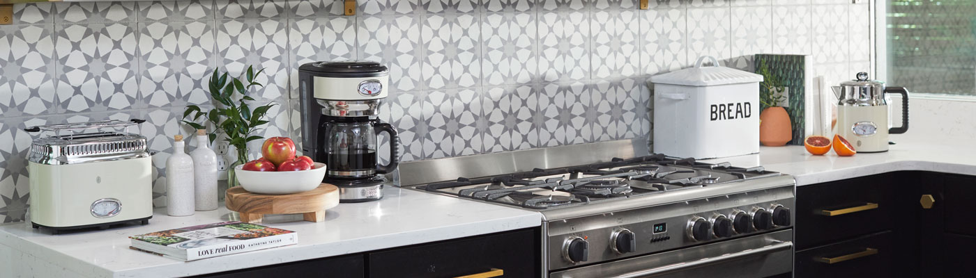 Russell Hobbs Cream Retro Collection in Kitchen