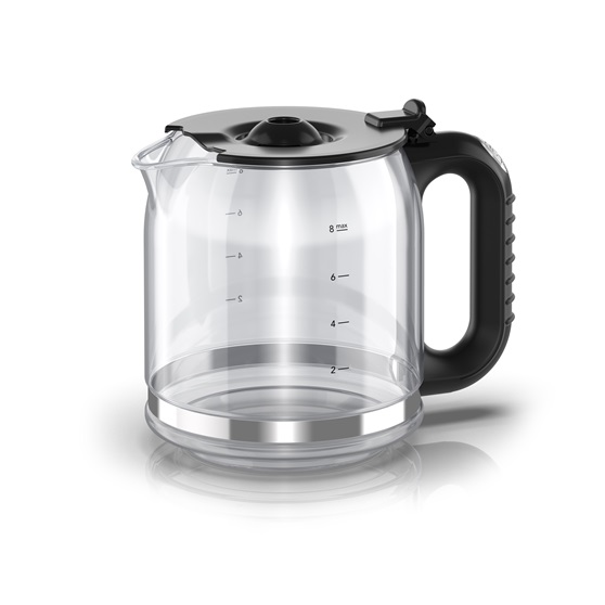 Retro Style 8-Cup Coffeemaker | Black & Stainless Steel
