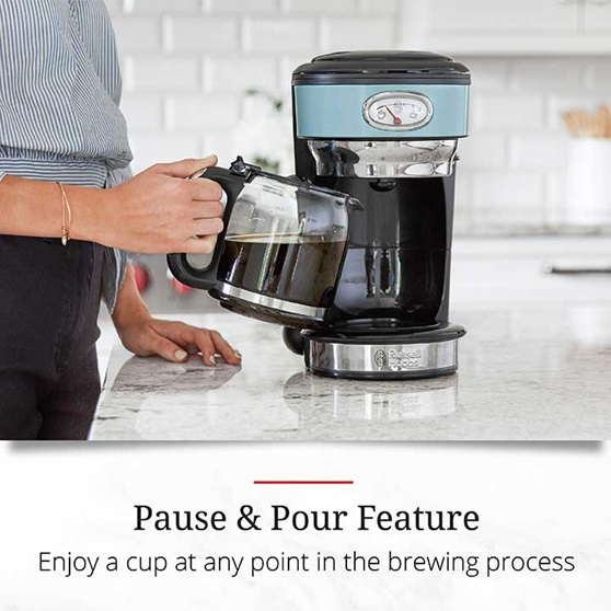 Pause and Pour Feature - Enjoy a cup at any point in the brewing process