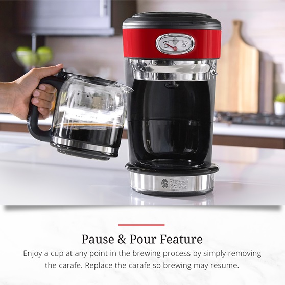 CM3100RDR Retro Style Pause and Pour Feature