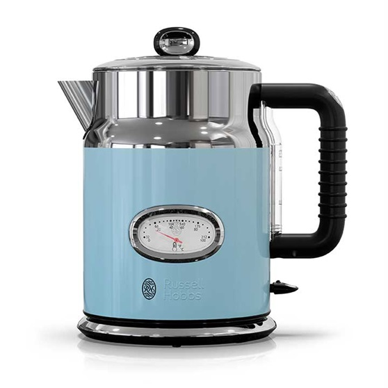 Russell Hobbs® Retro Style 1.7L Electric Kettle, Heavenly Blue & Stainless Steel, KE5550BLR