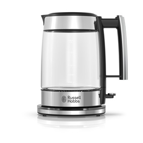 russell hobbs ke7900bkr glass tea kettle black