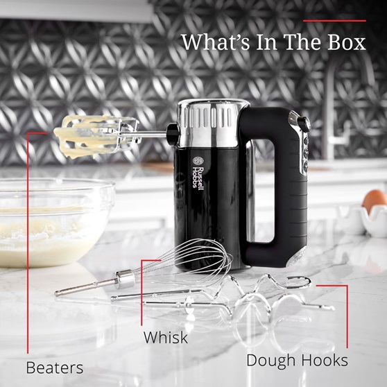 What's in the Box - Beaters, Whisk and Dough Hooks