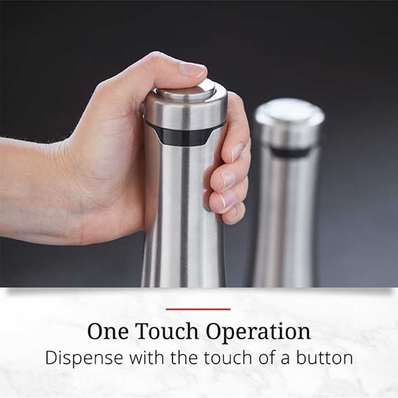 One Touch Operation - Dispense with the touch of a button
